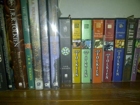 Personal Tolkien book collection