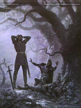 Beleg is Slain, by Ted Nasmith