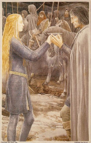 Alan-Lee---Eowyn-et-Aragorn
