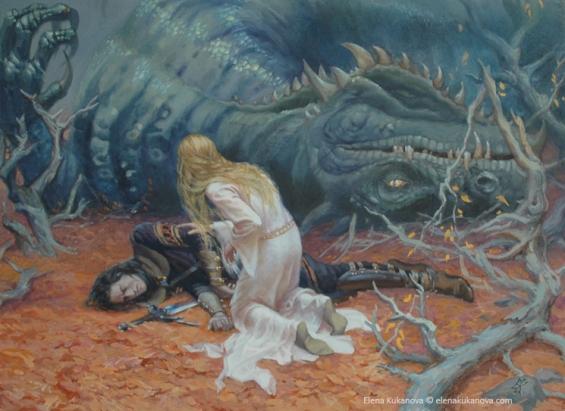 the_death_of_glaurung_by_ekukanova-d4lx6j1