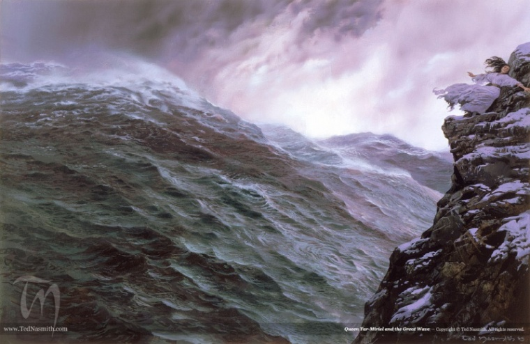 800px-Ted_Nasmith_-_Queen_Tar-Míriel_and_the_Great_Wave